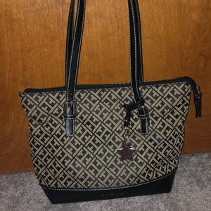 Tommy Hilfiger Black and Gray Purse